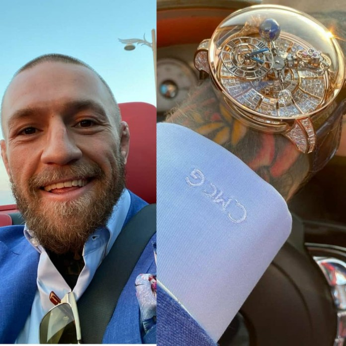 Connor Mcgregor shows off his $1m watch (photos/Video)