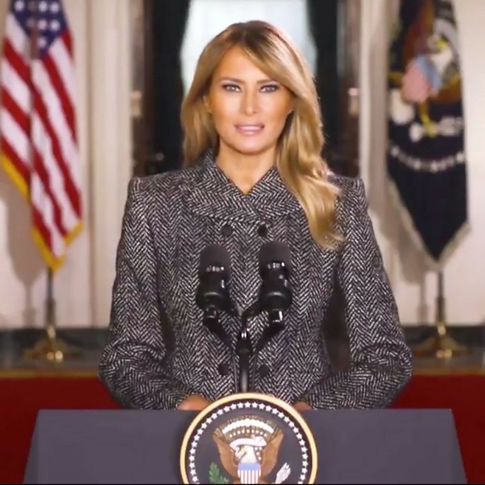 Melanie Trump addresses the nation in farewell message as her time as US First Lady comes to an end (video)