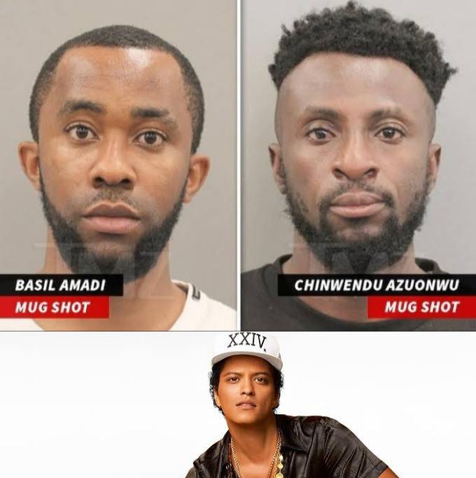 2 Nigerians arrested for posing as singer Bruno Mars to scam 68-year-old American woman of 0K in the U.S