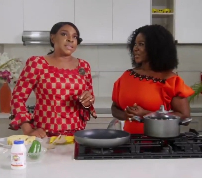 Mercy Johnson asks Liz Benson what to do if she catches her husband Prince Odi Okojie with a side chic and the latter responds (videos)