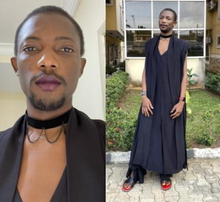 Tech entrepreneur, Ezra Olubi, causes a stir with his outfit to a friend