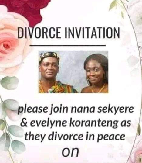 Couple sends out divorce invitation asking their friends to join them as they