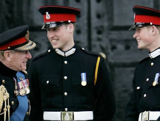 Queen orders Harry and William to walk apart behind Prince Philip