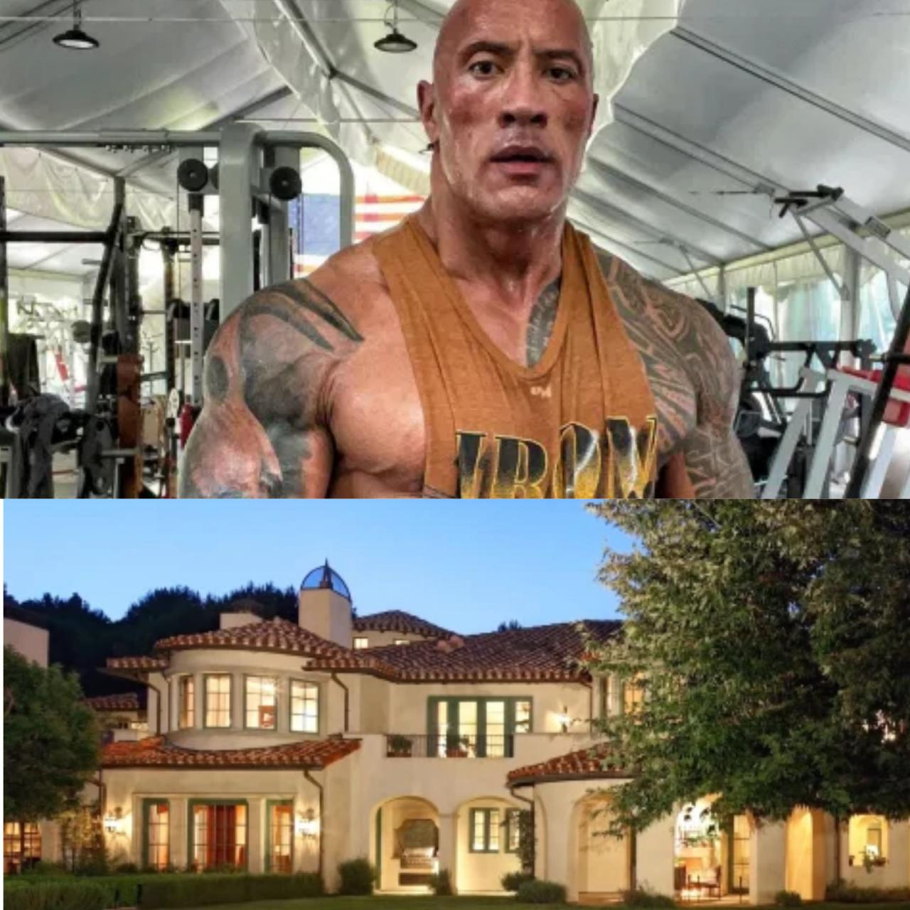 The Rock buys .8m mansion with full-size tennis court, a baseball pitch, guest house, movie theater & music studio (Photos)