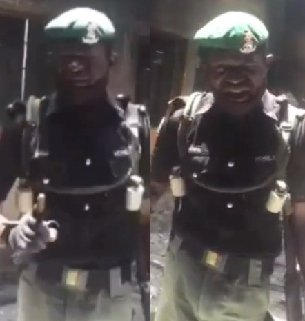 Nigerian mobile police officer serving in Yobe state moved to tears as he complains bitterly about their poor working condition (video)