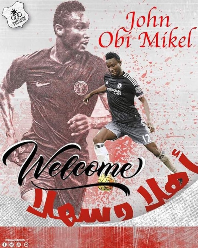 Former Super Eagles captain, John Mikel Obi signs for Kuwaiti club from Stoke City