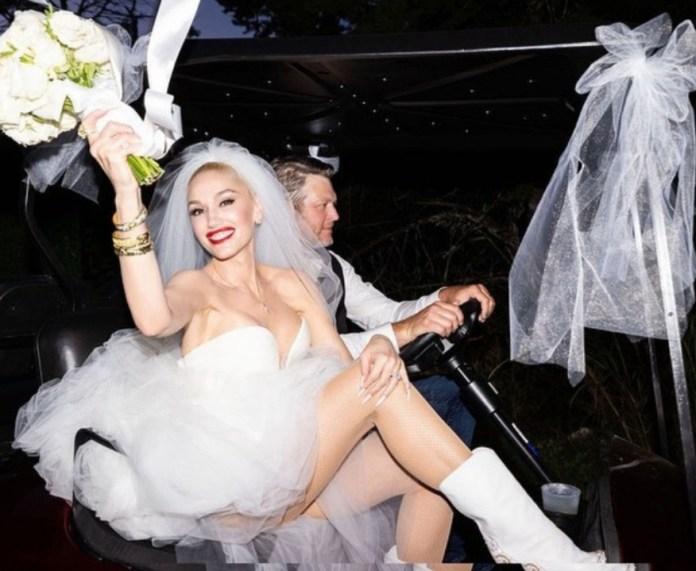 """Dreams do come true"" Gwen Stefani writes as she shares photos from her wedding to Blake Shelton"