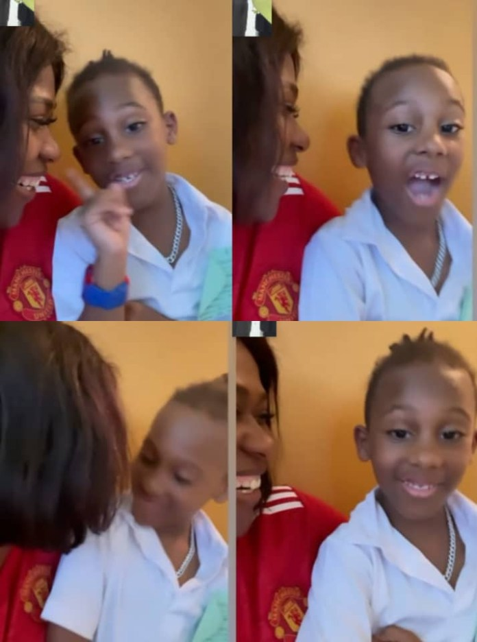Actress Uche Jombo shares lovely video of herself and her son, Matthew