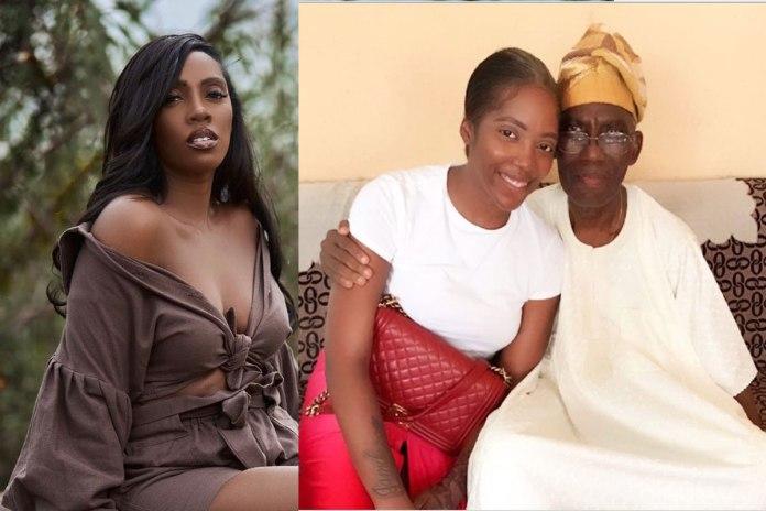 I'm So Weak'- Tiwa Savage Breaks Down As She Loses Her Dad, Nigerians React