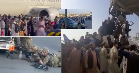 Afghanistan: Five people die during desperate attempts to climb airplanes at Kabul airport and flee the Taliban (Photos)