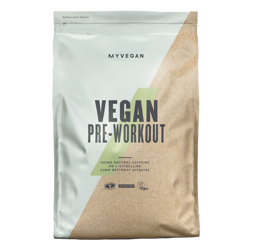 MyProtein is our favourite for the best vegan pre workout
