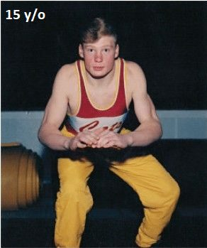 brock lesnar 15 years old