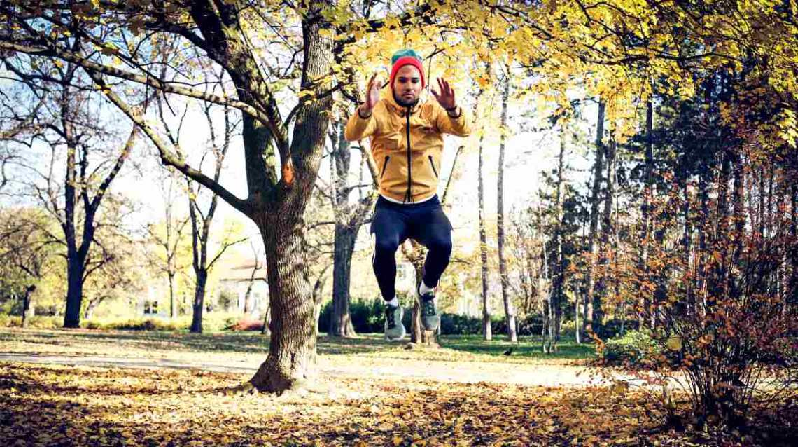 Man exercise jump squat   How To Do Tuck Jump Exercises The Right Way