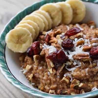 Apple Cranberry Instant Pot Steel-Cut Oats