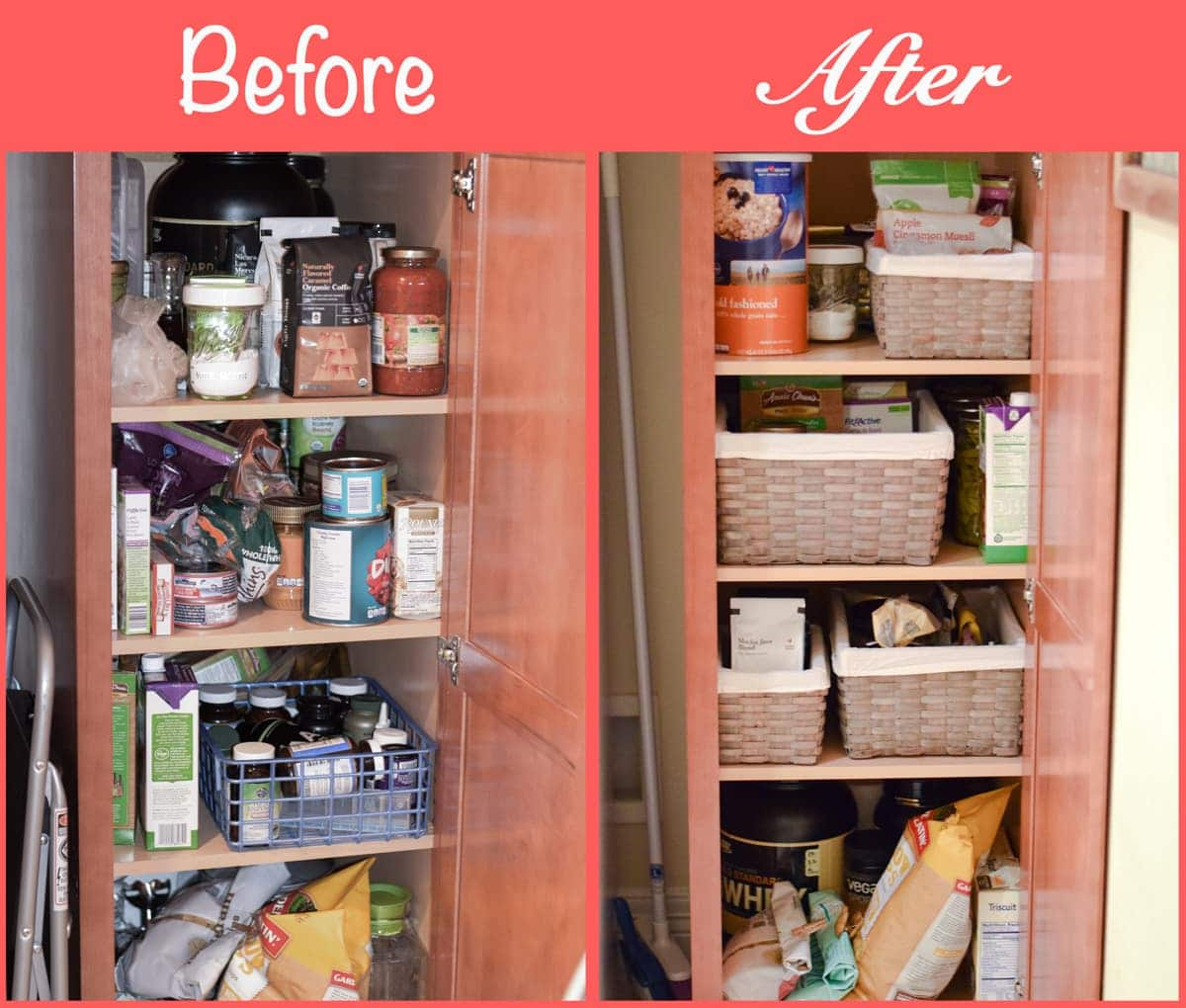 how to organize a small kitchen pantry | muscle and manna