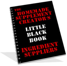 homemade supplements ingredient book