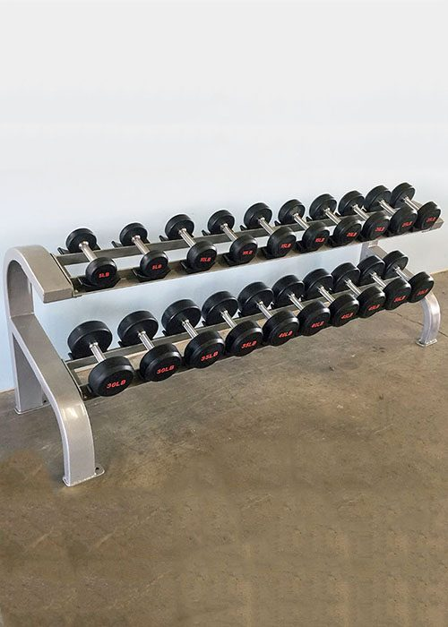 modular two tier 10 pairs dumbbell rack