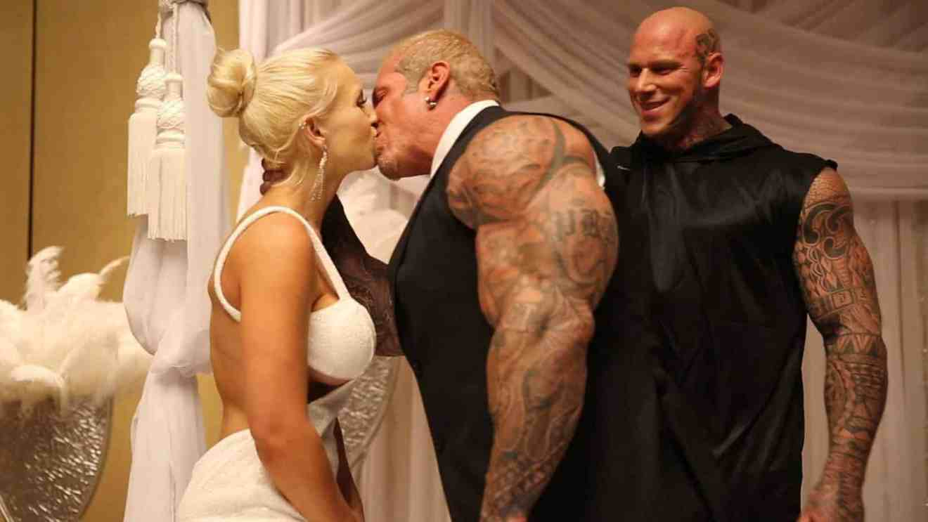 bodybuilder wedding