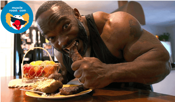 bodybuilder eating