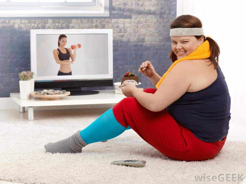 watching fitness videos