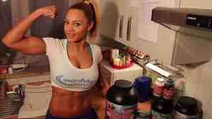 fitness model eating