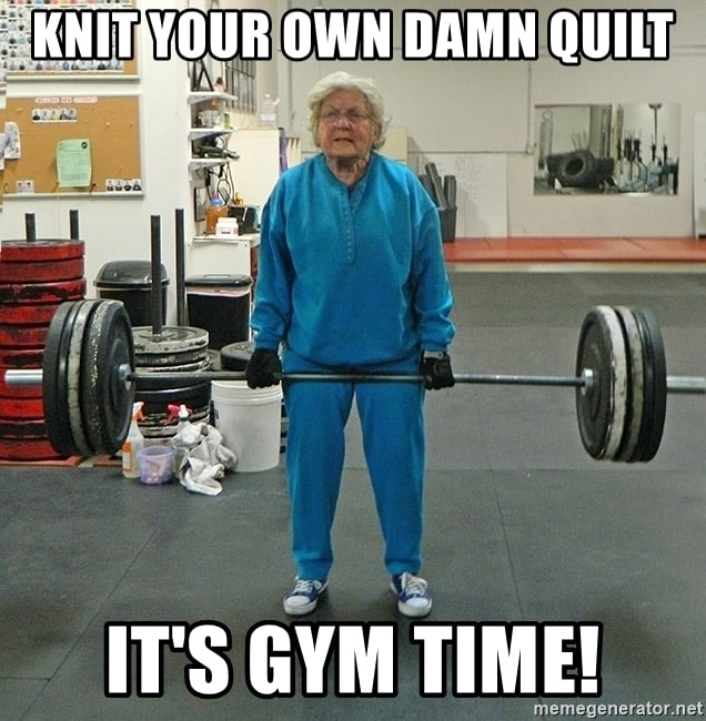 old lady gym