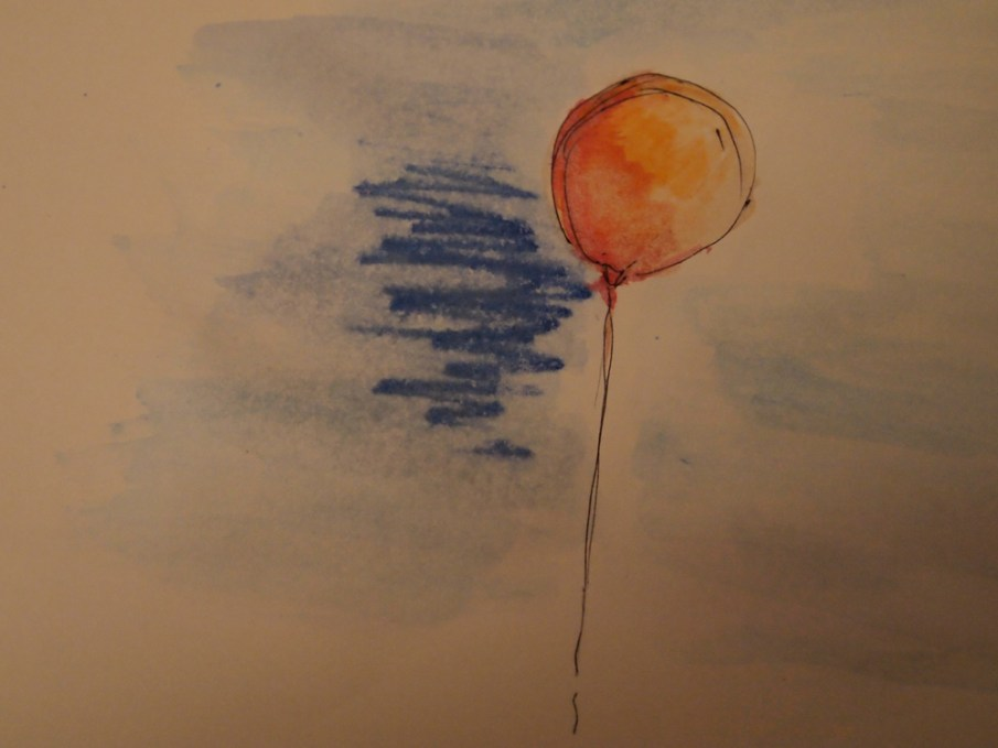 Aquarell Luftballon