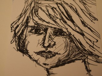 Portrait, Zeichnung, Tusche