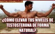 ¿Cómo elevar la testosterona de forma natural?