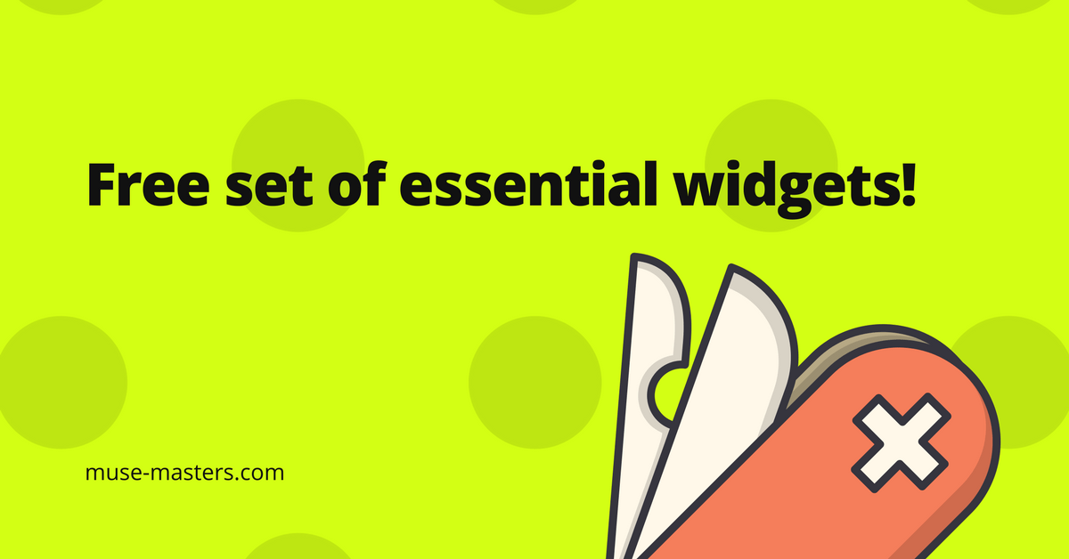 Free set of essential Adobe Muse widgets!