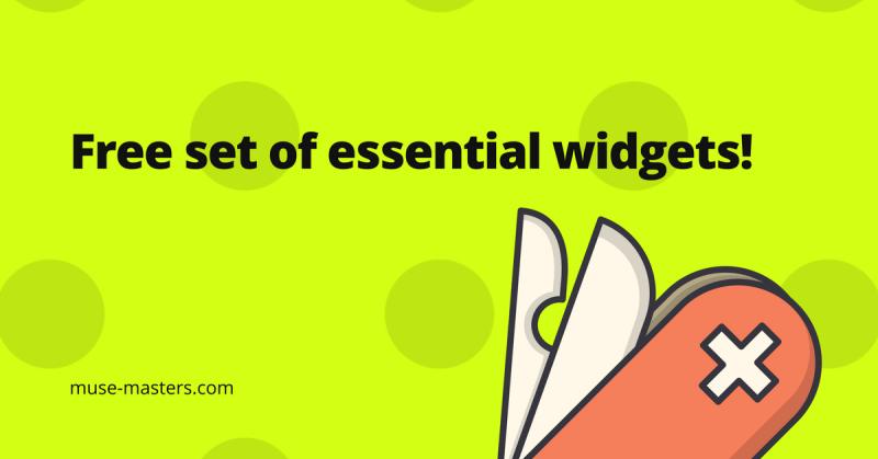 Free set of essential Adobe Muse widgets!