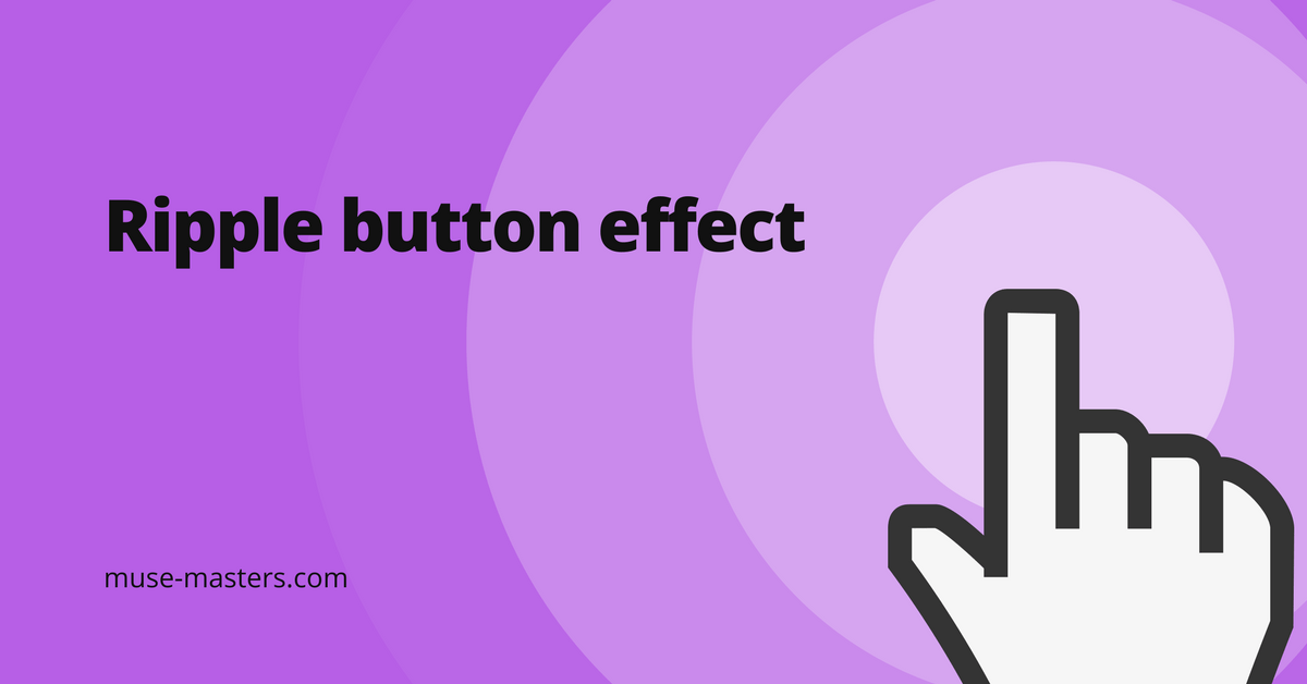 widget ripple button effect adobe muse
