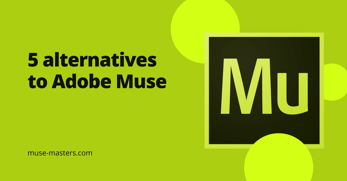 5 alternatives to Adobe Muse