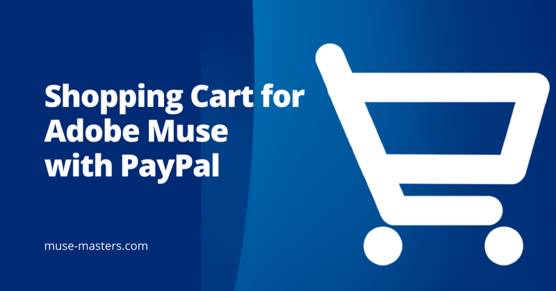 Shopping Cart for Adobe Muse with PayPal