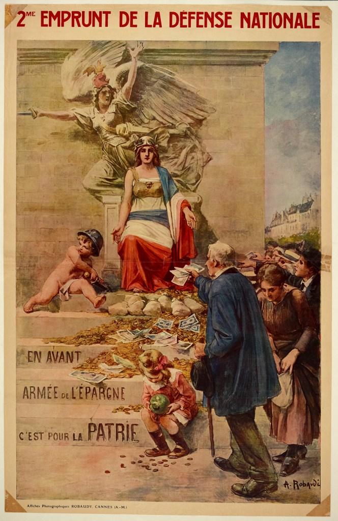 Affiche Deuxième enmprunt de la Défénse nationale, Alcide Rabaudi - Marque du domaine public - Collections musée de Bretagne