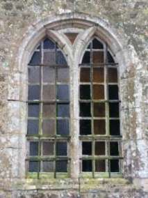 south window of Donville 15th century chapel