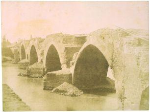S.Lecchi 1849 Ponte Milvio dalla sponda destra