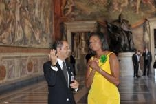 #MuseumMemories: when Michelle Obama visited the Capitoline Museums in Rome @MichelleObama @AmbasciataUSA #MuseumWeek