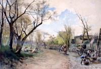 Ettore Roesler Franz, Ai Prati di Testaccio, 1890