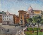 Tina Tommasini (1902-1985) La Spina di Borgo da piazza Pia 1936 Olio su tavola Roma, Museo di Roma, Gabinetto delle Stampe (inv. MR 41637)