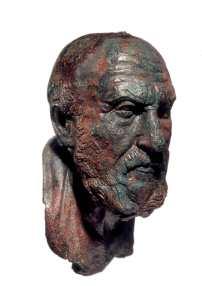 Busto-ritratto del filosofo stoico Crisippo, 75-80 d.C.