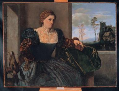 Giovanni Girolamo Savoldo (Brescia 1480 circa – dopo il 1548) Ritratto di donna 1525 ca.