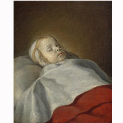 Anonyme, anciennement attribué à Philippe de Champaigne – Portrait d'un enfant mort – vers 1650 Besançon, musée des Beaux-Arts et d'Archéologie – © Besançon, Musée des beauxarts et d'archéologie – Photo © Charles choffet