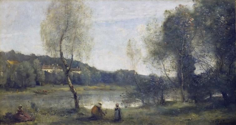 Jean-Baptiste Camille Corot (1796-1875), Ville d'Avray, l'étang au bouleau devant les villas, 1872-1873, huile sur toile, 43,7 x 83 cm, Rouen, musée des Beaux-Arts , inv.1874.1 © C. Lancien, C. Loisel / Musées de la ville de Rouen