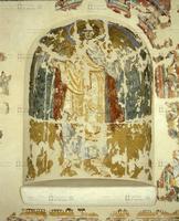 Pittore veronese, San Michele, XII secolo, pittura murale staccata
