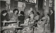 Pintando cortinas en Segisa-Noviembre 1955