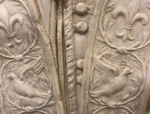 Busto di Alessandro Algardi dettaglio