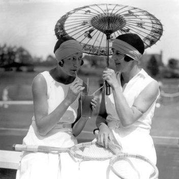 Frinton Tennis Tournament - Miss. J.E. Stevens and Mrs. Craddock, July 15th 1929, © TopFoto/Alfieri