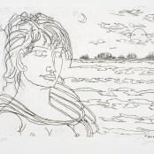 26. Tono Zancanaro, Apollo, acquaforte, incisione mm247x320, foglio mm495x710, 1972
