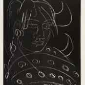 30. Tono Zancanaro, Buon Apollo, vernice molle, incisione mm370x300, foglio mm700x495, 1983